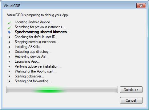 Debugging Arbitrary APK Files with Visual Studio – VisualGDB