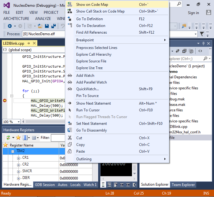 STM32-Nucleo-F411RE tutorial with Visual Studio – VisualGDB
