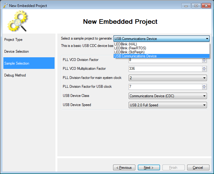 Making a basic USB CDC project for STM32F4Discovery
