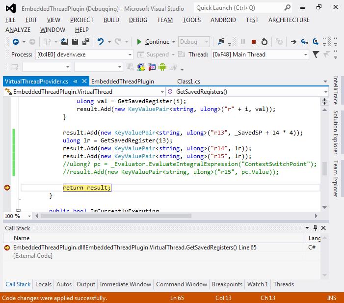 Debugging Embedded Threads with VisualGDB – VisualGDB Tutorials