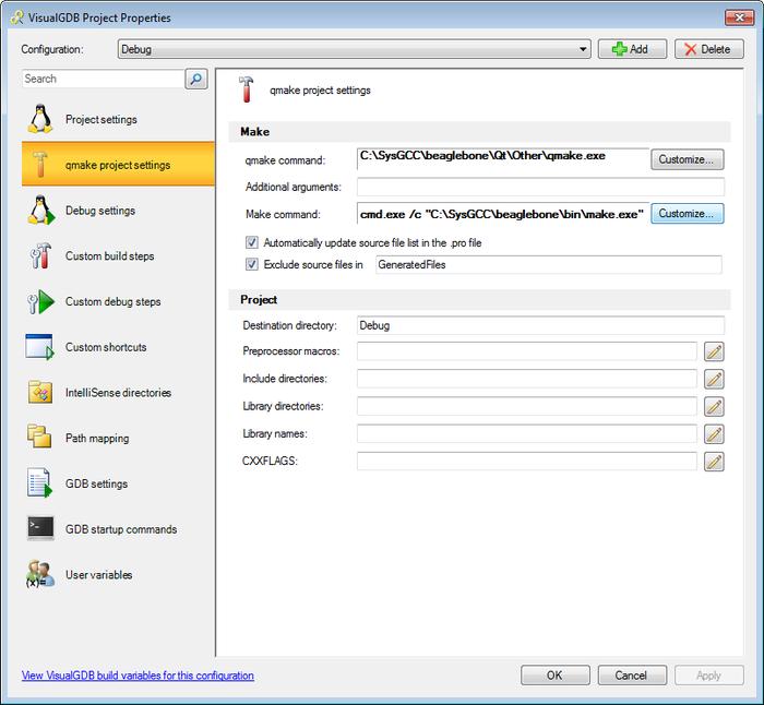 Creating Qt-Embedded Projects for Beaglebone – VisualGDB Tutorials
