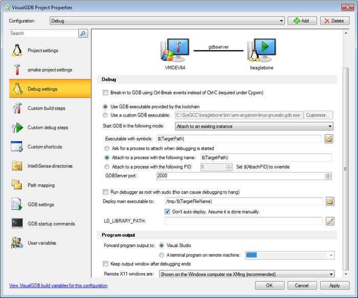 Creating Qt-Embedded Projects for Beaglebone – VisualGDB
