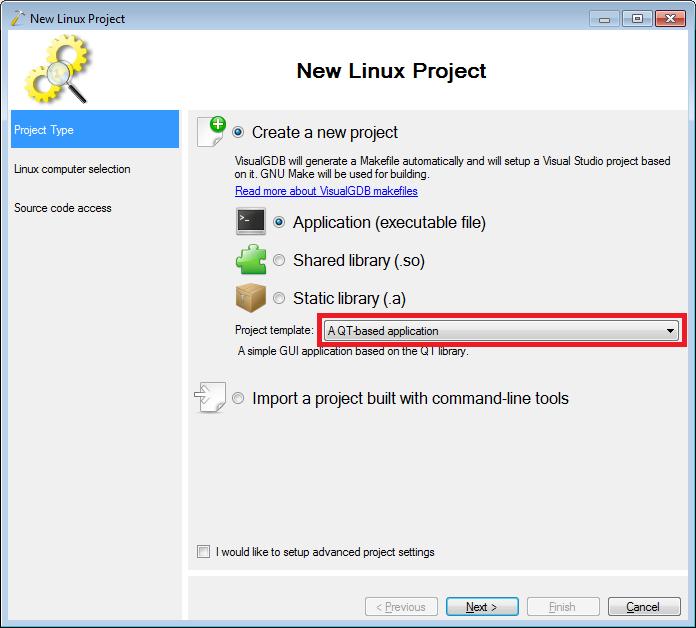 Creating Qt Projects for Beaglebone with Visual Studio – VisualGDB