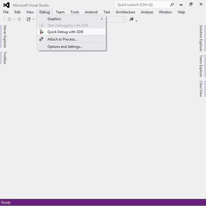 Using Quick Debug to debug Win32 applications – VisualGDB Tutorials
