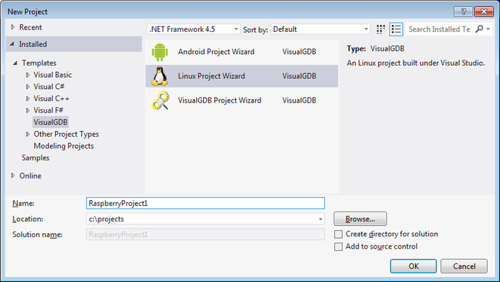 Developing a Raspberry PI app with Visual Studio – VisualGDB